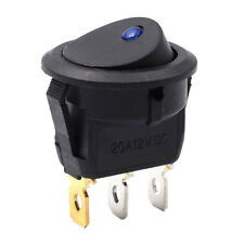 3Pins 12V Bar Rocker Toggle Switch SPST On/Off Blue LED Light Car Boat Marine