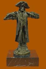 Skeleton Pirate Skull Head Dagger Real Genuine Bronze Gothic  Figurine Lost Wax