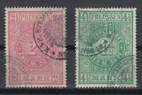 X2239/ GERMANY - PRUSSIA – FISCAL USED 2 ½ MARK – 4 ½ MARK