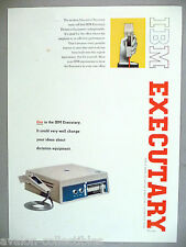 IBM Executary Dictation Equipment PRINT AD - 1961
