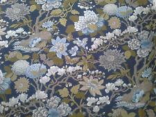 GP & J Baker Magnolia indigo Blackout lined curtains 190cms w x 175cms drop