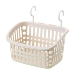 Plastic Hanging Basket Place Saving Storage Basket for Entryway with Hooks
