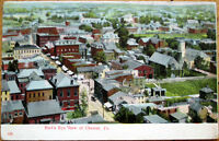 1909 Postcard: Bird's Eye View of Chester, Pennsylvania PA