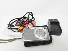 Casio EXILIM CARD EX-S10 10.1MP Slim Digital Camera - Silver + Charger + SD Card