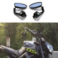 Motorcycle Bar End Black Rearview Mirrors For Yamaha FZ09 FZ07 FZ10 FZ03 MT-125