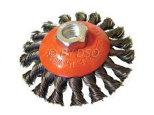 Professional 100mm M14 semi plat nouées coupe brosse peinture rust removal