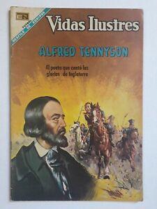 ALFRED TENNYSON -VIDAS ILUSTRES #180- ORIGINAL COMIC IN SPANISH -MEXICO- NOVARO