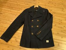 G-Star Men's Great Wool Coat - Large Navy Peacoat