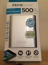 iHome 10,000 mAh Power Portable Rechargeable Battery