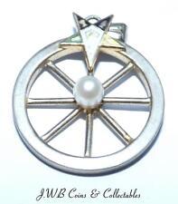 Silver Gilt Pendant Eastern Star / Masonic
