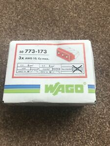 BNIB 50x WAGO Connectors Type (773-173) 3-Way Electrical Connectors For 6mm Wire