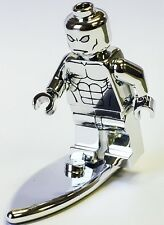Custom Chrome Lego Super Heroes Minifigure Silver Surfer Machine Pad Print