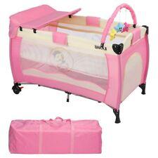 Bakaji lettino Culla Box Gioco da Campeggio per Bambini Neonato con fasciatoio