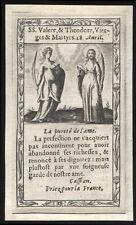 santino grabado 1600 S.TEODORA BORDE ALESSANDRIA y VALERIA s. borde MILÁN