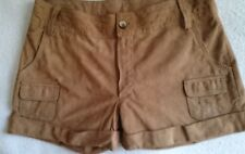 Leather Shorts,LACOSTE,Size 40,Brown,Women's