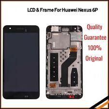 Para HUAWEI NEXUS 6p Repuesto de conjunto digitalizador de Pantalla Táctil LCD Marco UK