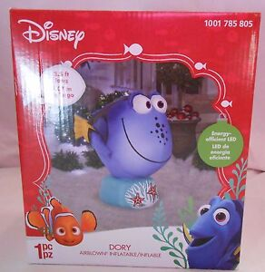 Disney Dory Airblown Inflatable 3.5 ft LED Light Up Fish Gemmy Christmas Nemo