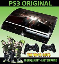 PLAYSTATION PS3 OLD SHAPE STICKER BATMAN VS SUPERMAN HEROES SKIN & 2 PAD SKINS