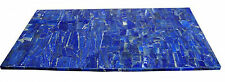 4'x2' Marble Dining Side Table Top Lapis Lazuli Mosaic Stone Inlay Decor H2030