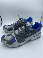 FILA All Terrain Trail Running Sneakers Shoes Mens Size 11 GREY/BLUE WORN TWICE!