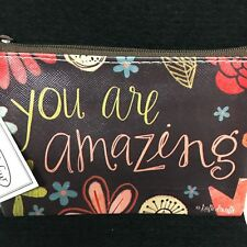 Coin Purse with Zippered Top or Use for Credit Cards or Cash You Are Amazing