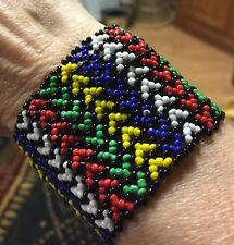 Wrist Band, Beads,Multi Color,Stretchy