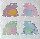 """12 packages of Pearlized TropicalFrog Stickers,""""Great 7"""" Sticker Design, PMP3104"""
