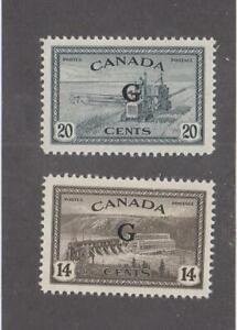 "CANADA (MK6893) # O22-O23 VF-MLH 14,20cts  COMBINE /HYDRO ""G"" O/PRINT CV $32"