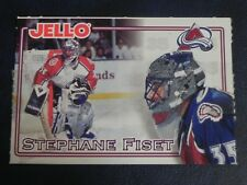 1995-96 95/96 JELL-O Crease Keepers Stephane Fiset Colorado Avalanche