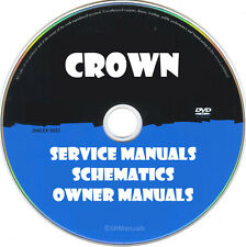 Crown Service Owner Manuals & Schematics- PDFs on DVD - Huge Collection Latest