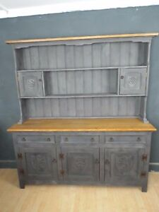 Fine Quality Solid Oak Painted Shabby Chic Dresser