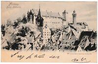 Ansichtskarte Nürnberg - Blick auf die Burg (Südseite) - Martin-Verlag - um 1900