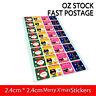 Christmas Xmas Gift Deco Sticker Label Envelope Seals Scrapbooking Craft Kids