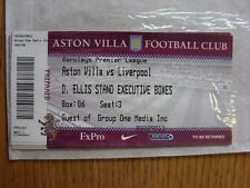22/05/2011 Ticket: Aston Villa v Liverpool [Executive Box]