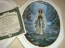 HECTOR GARRIDO Visions Of Our Lady Blessed Inspiration OUR LADY OF LOURDES Plate