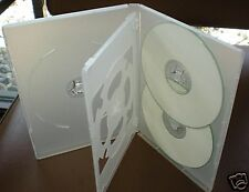 50 SLIM 14MM MULTI 5 FIVE DVD CD CASES BOX , CLEAR DH5