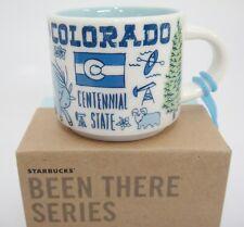 Starbucks MINI Colorado Been There Mug Ornament 2018 2 oz Blue NIB