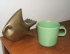 HOGANAS KERAMIK NILSSON GREEN COFFEE MUG CUP CERAMICS POTTERY Iittala SWEDEN HTF