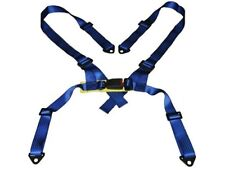 "4-POINT 2"" BLUE NYLON STRAP HARNESS SAFETY BUCKLE RACING SEAT BELT"