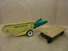 Vintage Structo Construction Toy Sand Loader Metal with Other Cart / Trailer