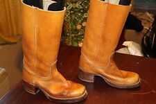 TALL VINTAGE DISTRESSED FRYE RIDING MOTORCYCLE BOOTS 9.5 D