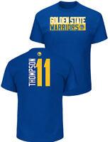 Klay Thompson Golden State Warriors Mens Royal Vertical Short Sleeve T Shirt