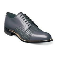 Men's Shoes Stacy Adams Madison Lace Up Diamond Print Leather Gray 00082-020