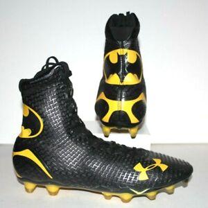 Men's UNDER ARMOUR Highlight Batman Cleats 1256694-006 Black/Yellow Size 10.5