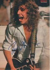 Peter Frampton Autogramm signed A4 Magazinbild