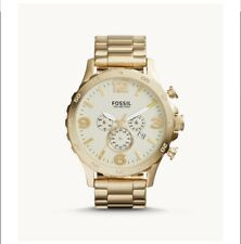 Fossil Mens Nate Chronograph Gold-Tone Stainless Steel Watch JR1479