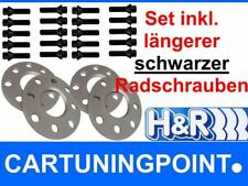 H&R WHEEL SPACER FRONT AXLE + REAR Volvo V 70 Type S 10mm+ Bolts Black