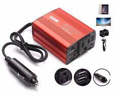 150W Car Power Inverter DC 12V to AC 110V Converter 2 USB Port for Van/Car