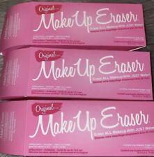 Lot of 3 The Original MAKEUP ERASER make up remover cloth in PINK