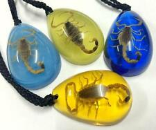 12 Piece trendy real gold scorpion drop style mixed color vogue pendant